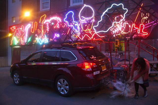 Outdoor neon light exhibition katiewong workwithnaturefo